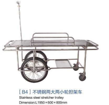 山东[b4]不锈钢两大两小轮担架车