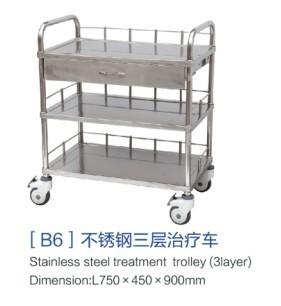 [b6]不锈钢三层治疗车