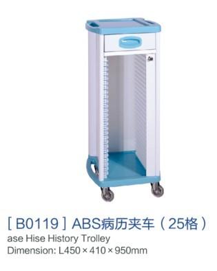 山东[b0110]abs病历夹车(25格)