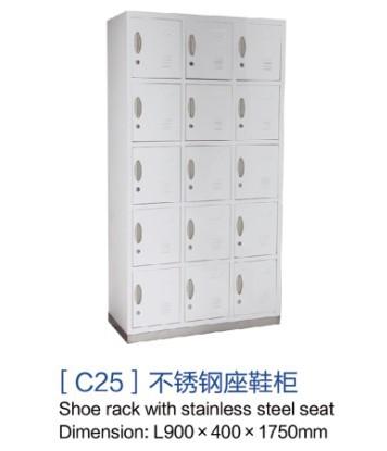重庆[c25]不锈钢座鞋柜