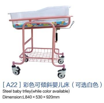 [a22]彩色可倾斜婴儿床(可选白色)