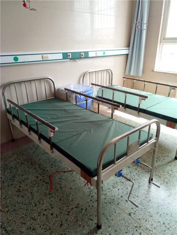 不锈钢床头双摇护理床(选配护栏)